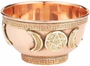 copper altar bowl