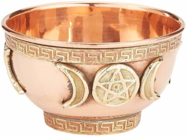 copper altar bowl